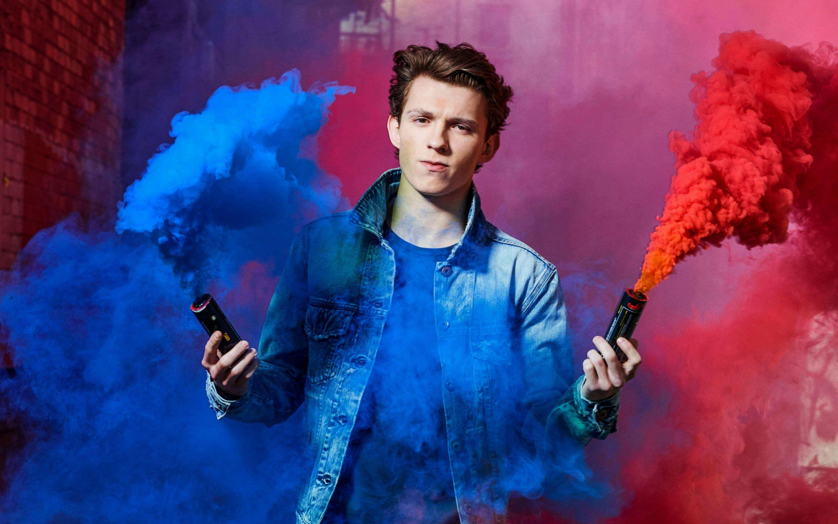 Tom Holland Color Fire 5K HD Wallpapers