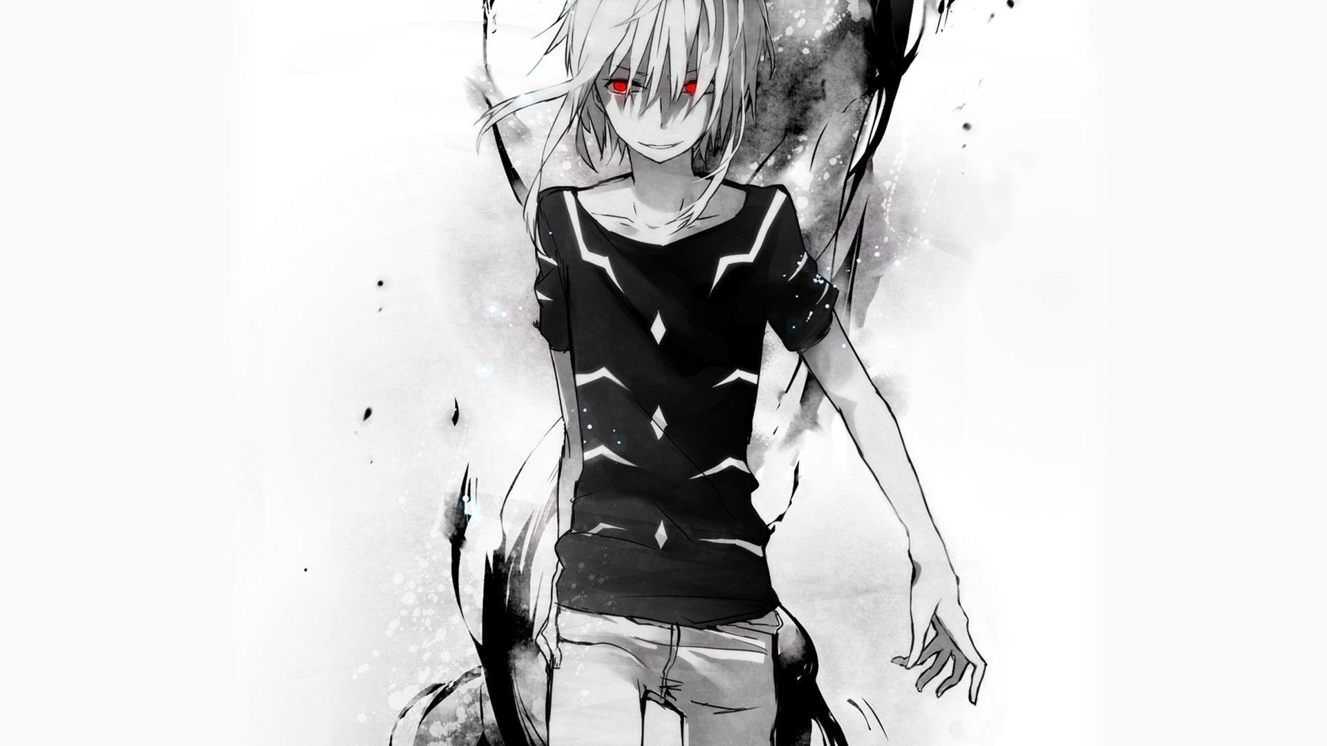 black and white anime wallpapers - wallpaper cave