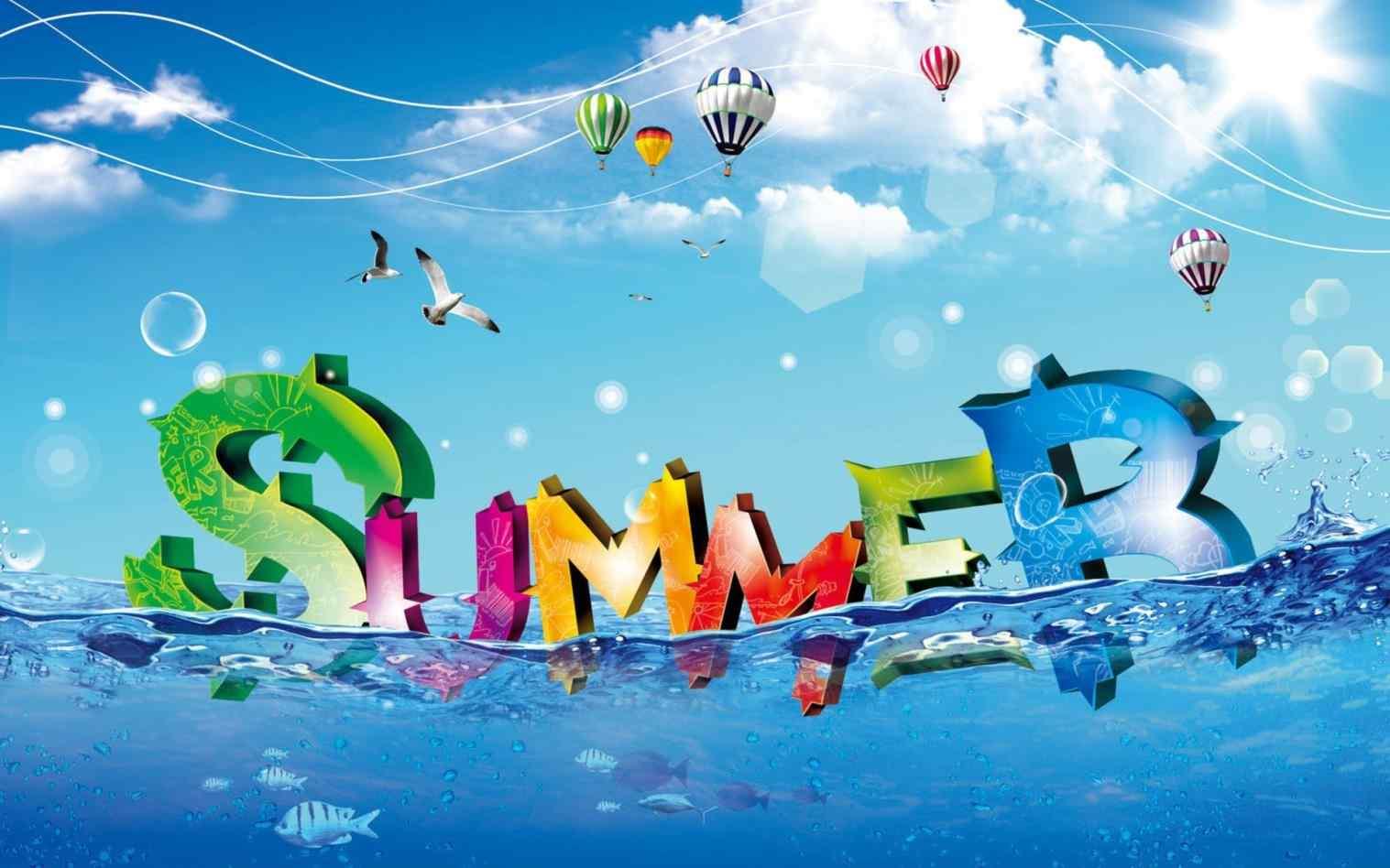 Desktop Happy Summer Vacation Wallpapers Wallpaper Background Hd