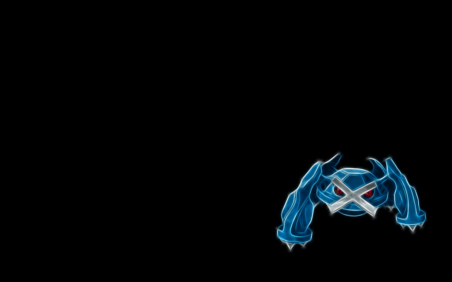 Pokemon, simple background, black background, Metagross