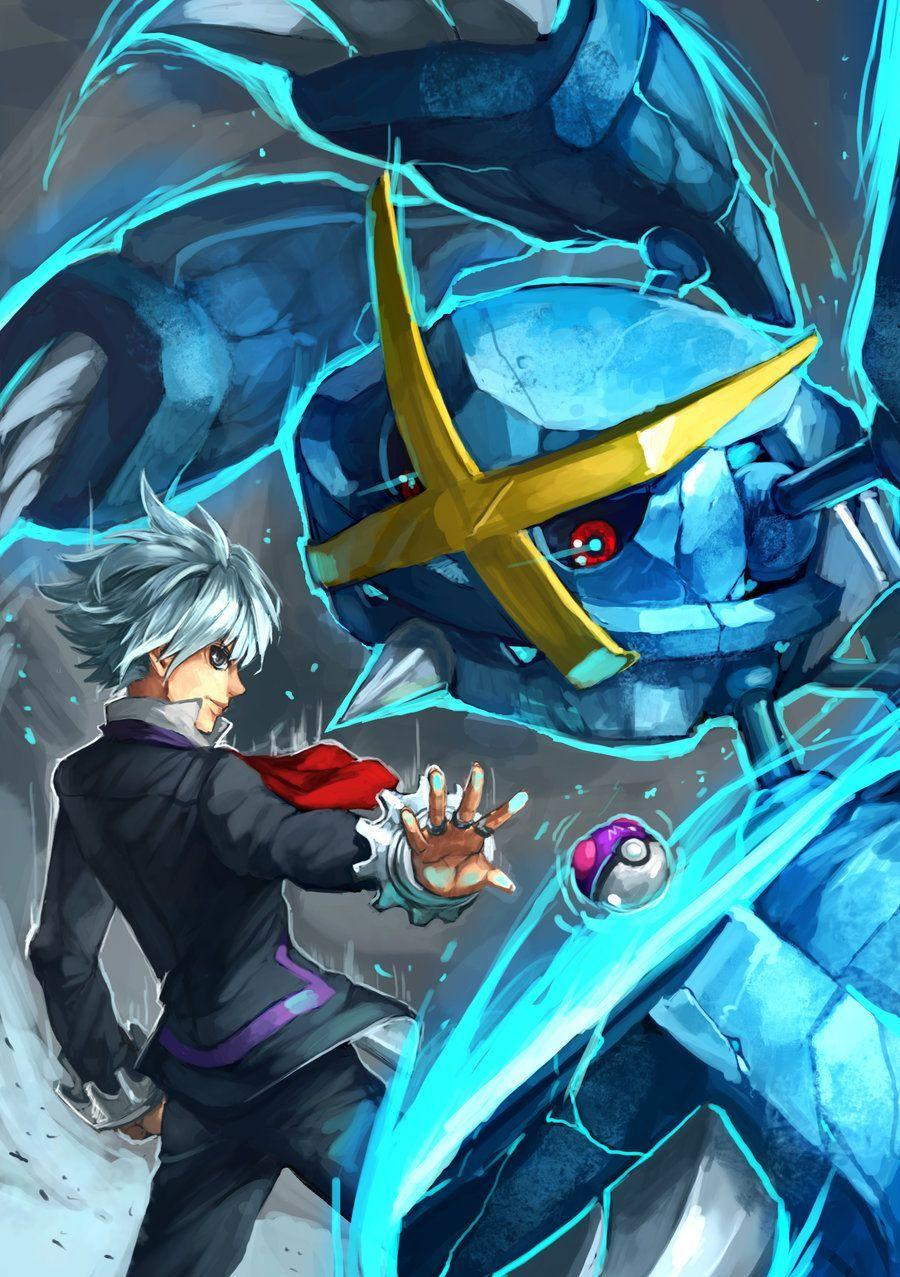 Pokemon : Steven and Mega Metagross by Sa