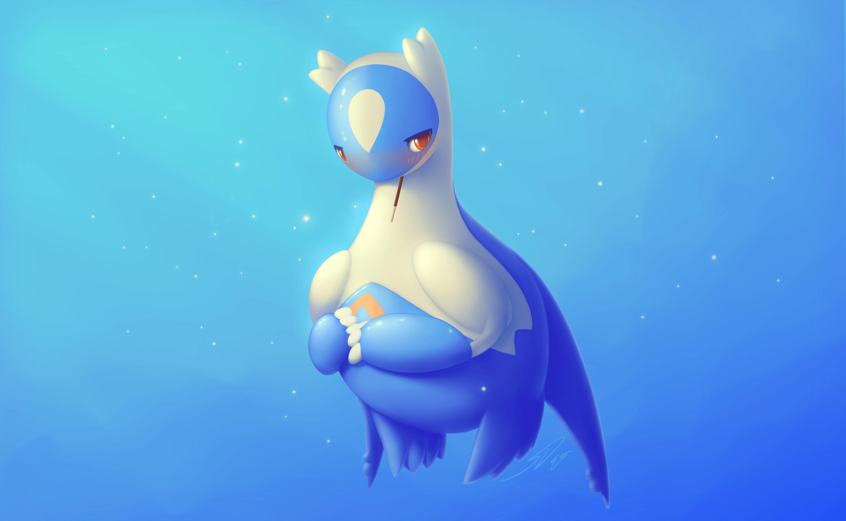 Wallpaper Latios, Pokemon, Blue, HD, Creative Graphics, #12215