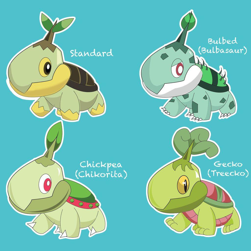 Turtwig-Grotle-Torterra favourites by MCsaurus on DeviantArt