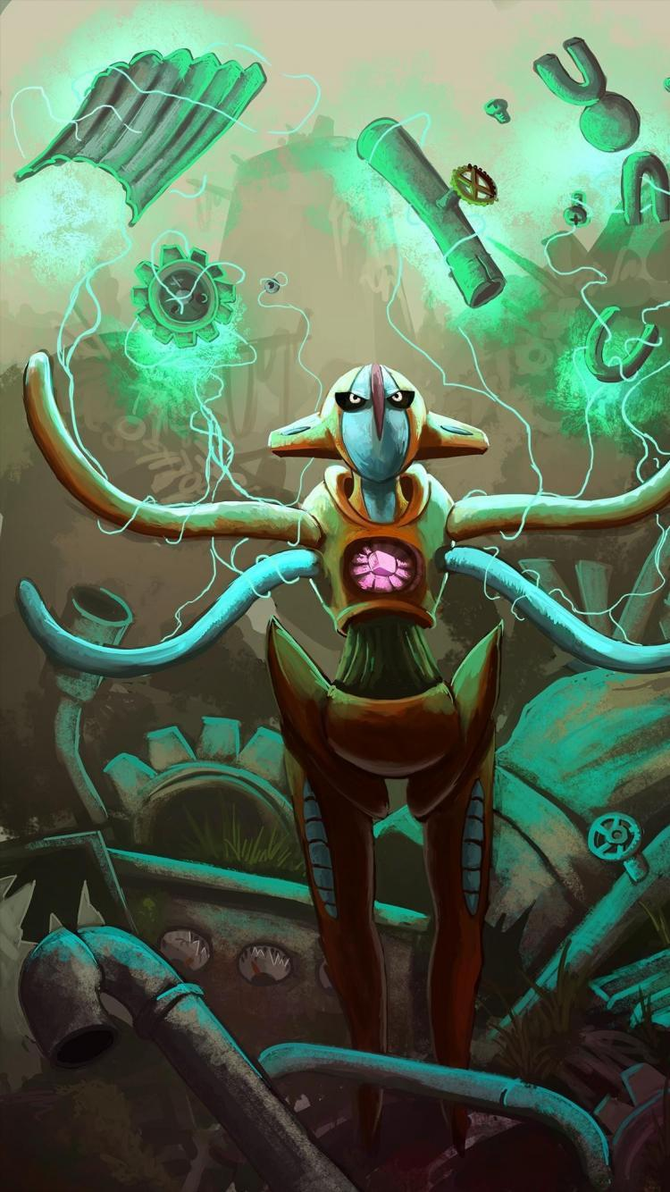 Digital art artwork lightning magnemite deoxys klink wallpapers