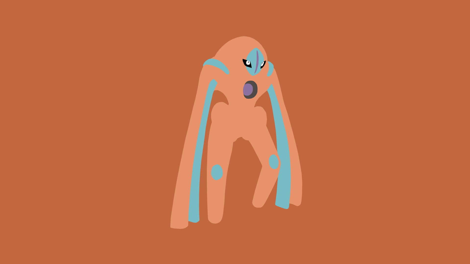 Minimalistic Wallpaper: Deoxys [Defense]