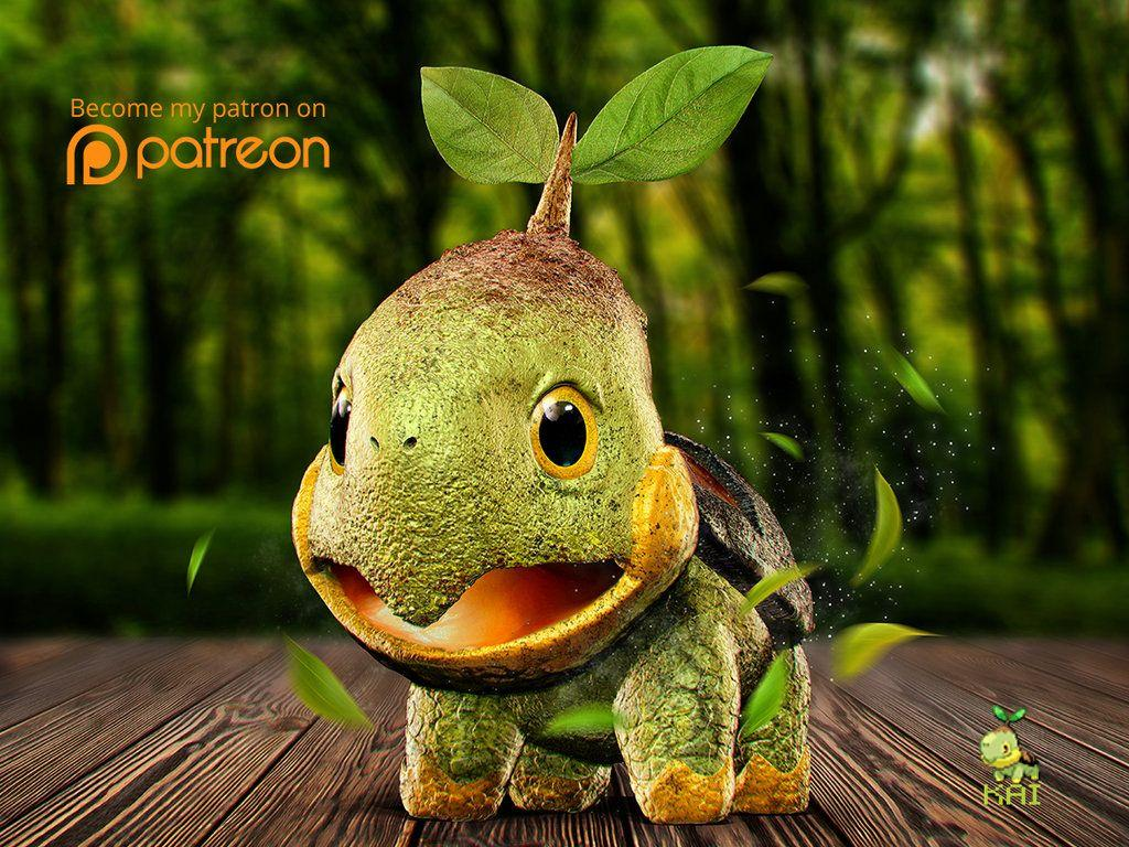 Realistic Pokemon: Turtwig by KaiKiato on DeviantArt
