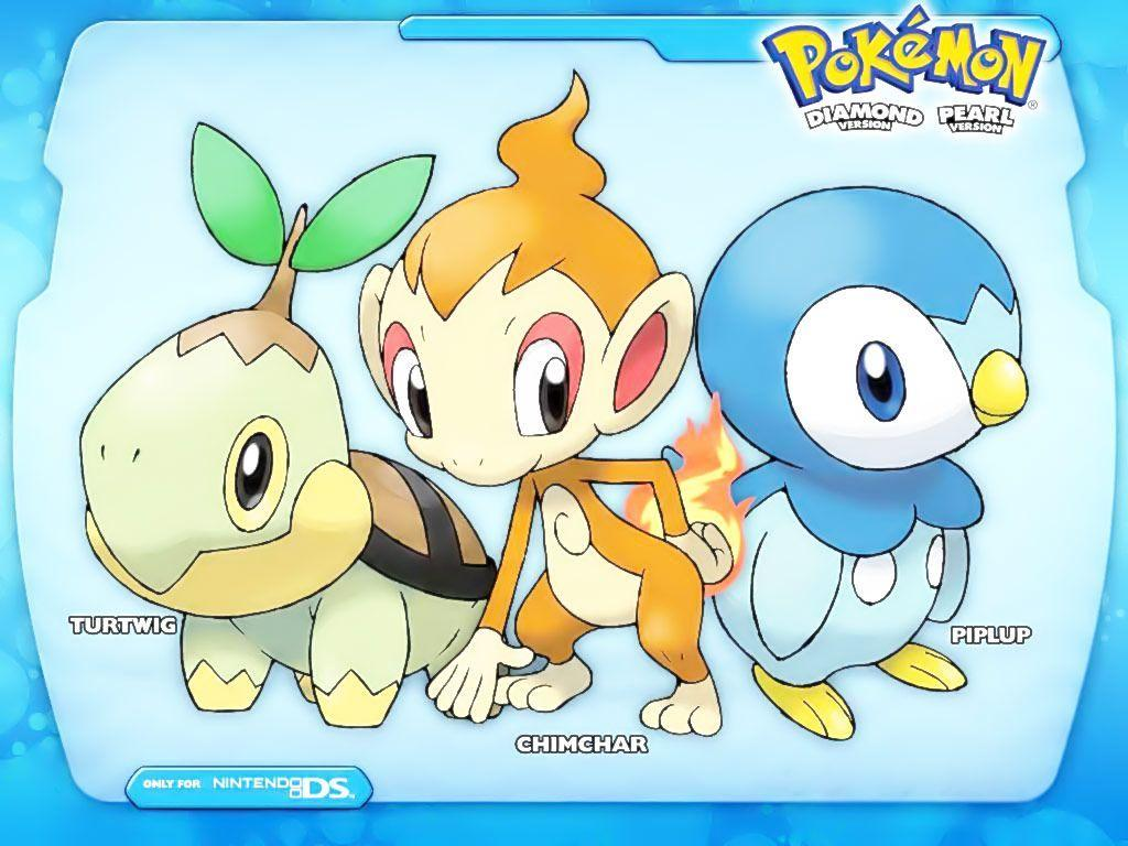 Pokemon Starters Piplup,Chimchar,Turtwig, ash, brock, chimchar, dawn ...