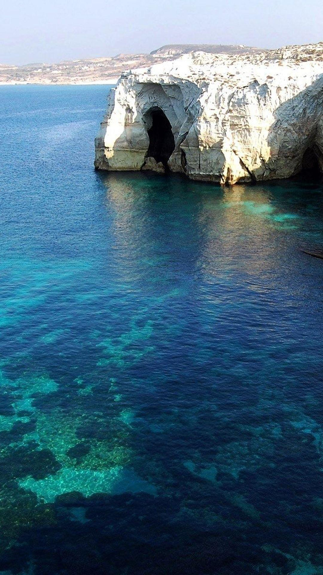 Milos Island Blue Lagoon Android Wallpapers free download