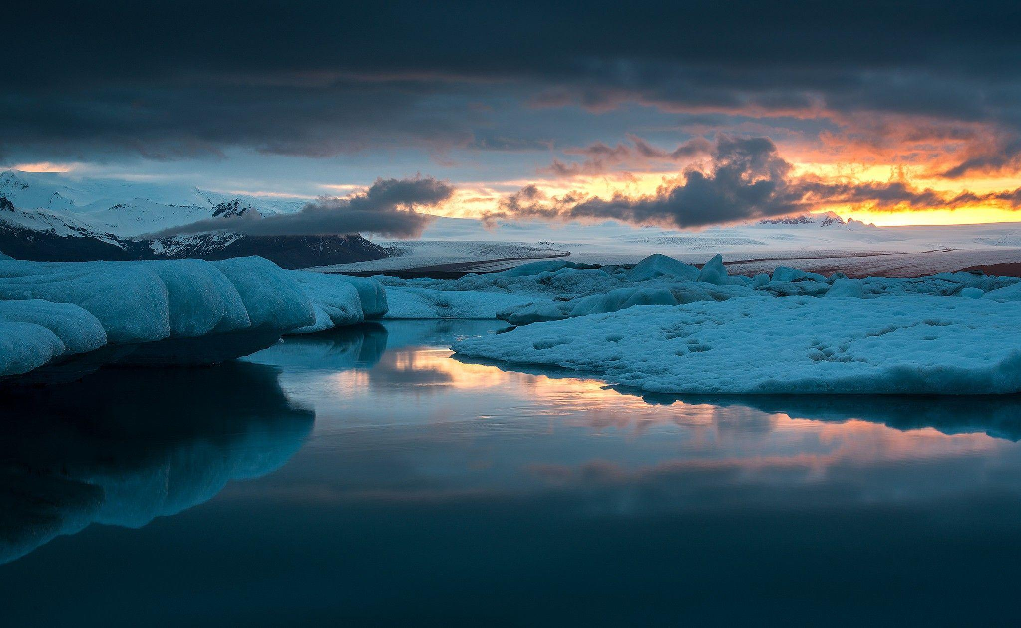 Iceland, Blue Lagoon, night, winter wallpapers