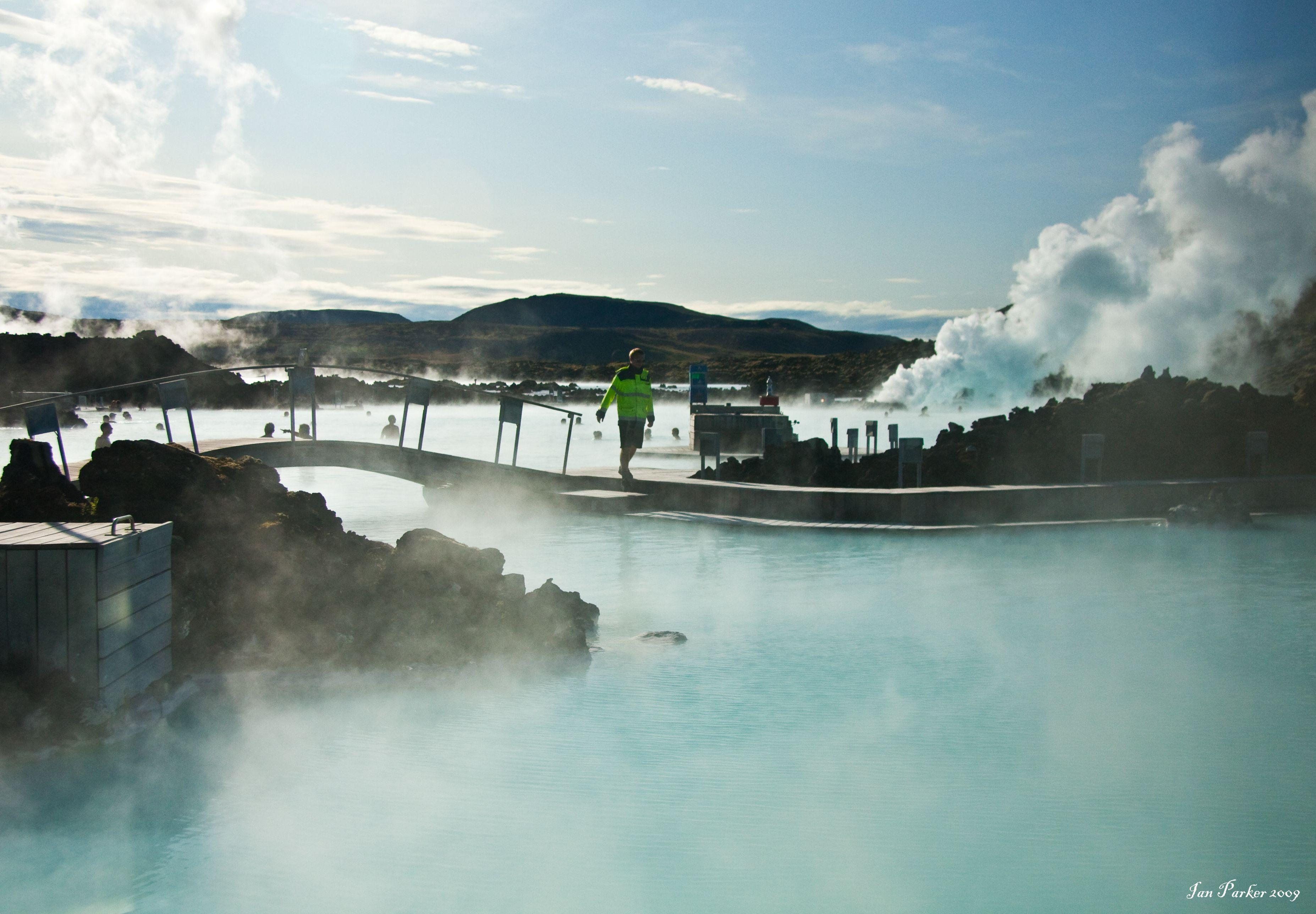 Iceland Blue Lagoon Wint HD Wallpaper, Backgrounds Image