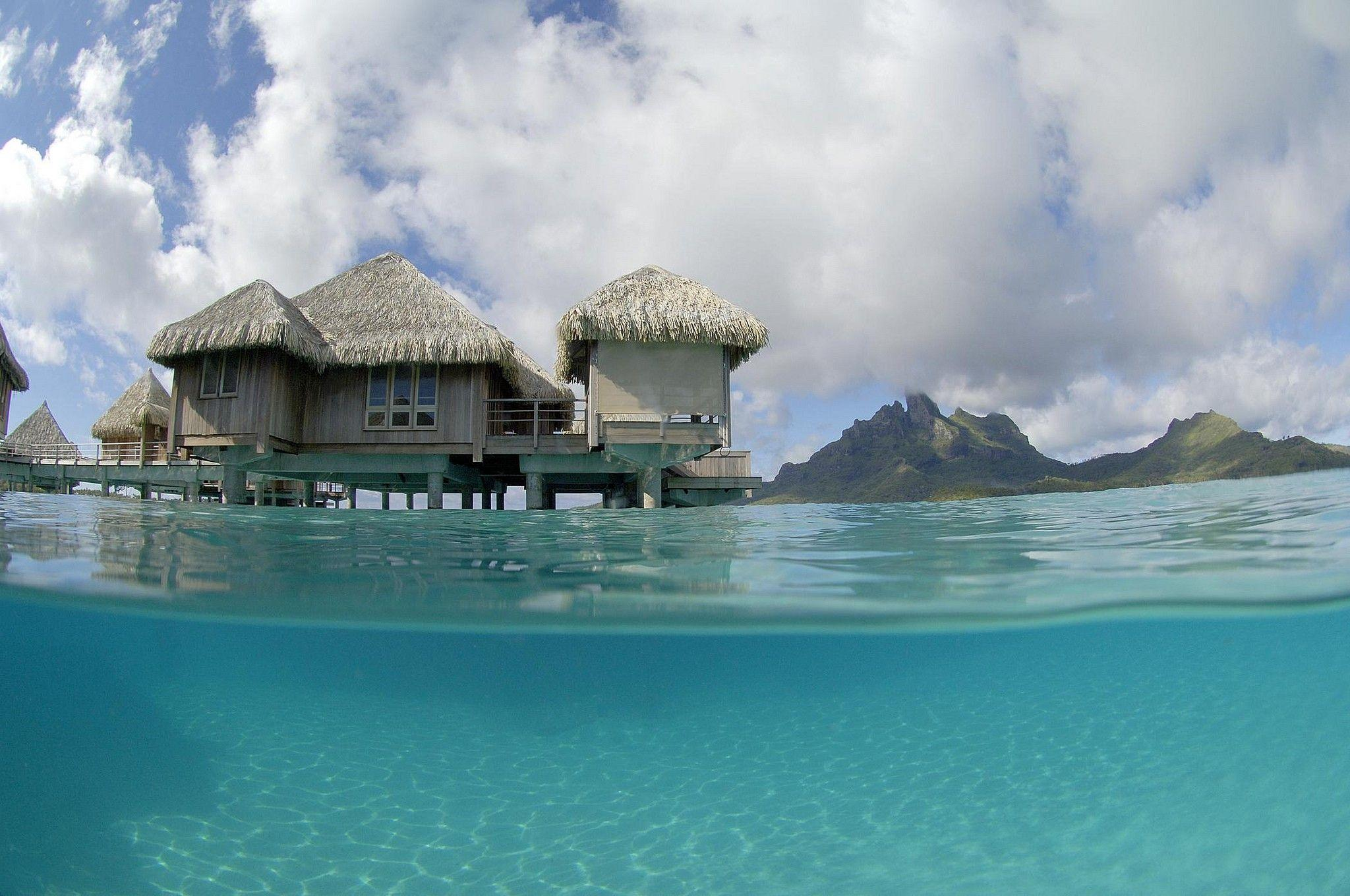 St regis bora water villa bungalow blue lagoon wallpapers