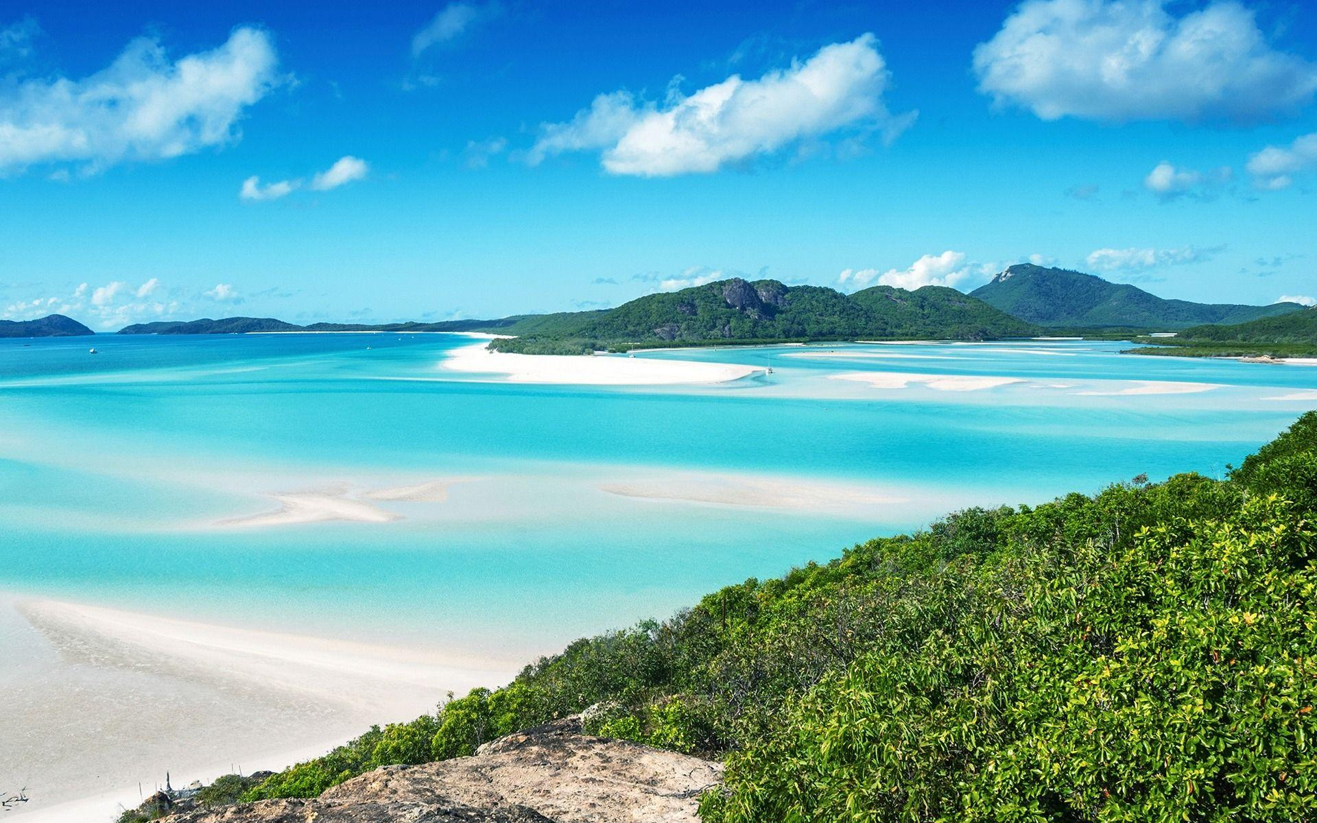Download wallpapers Whitsunday Island, Australia, tropical island