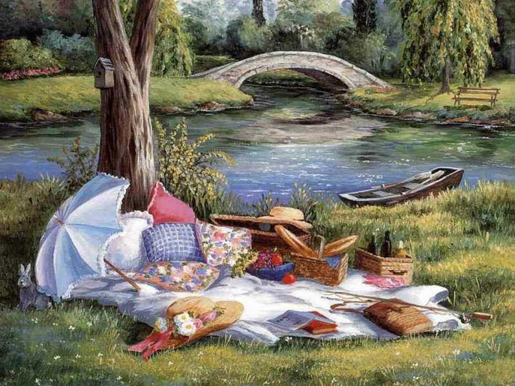 Картинки отдых на природе прикольные рисованные