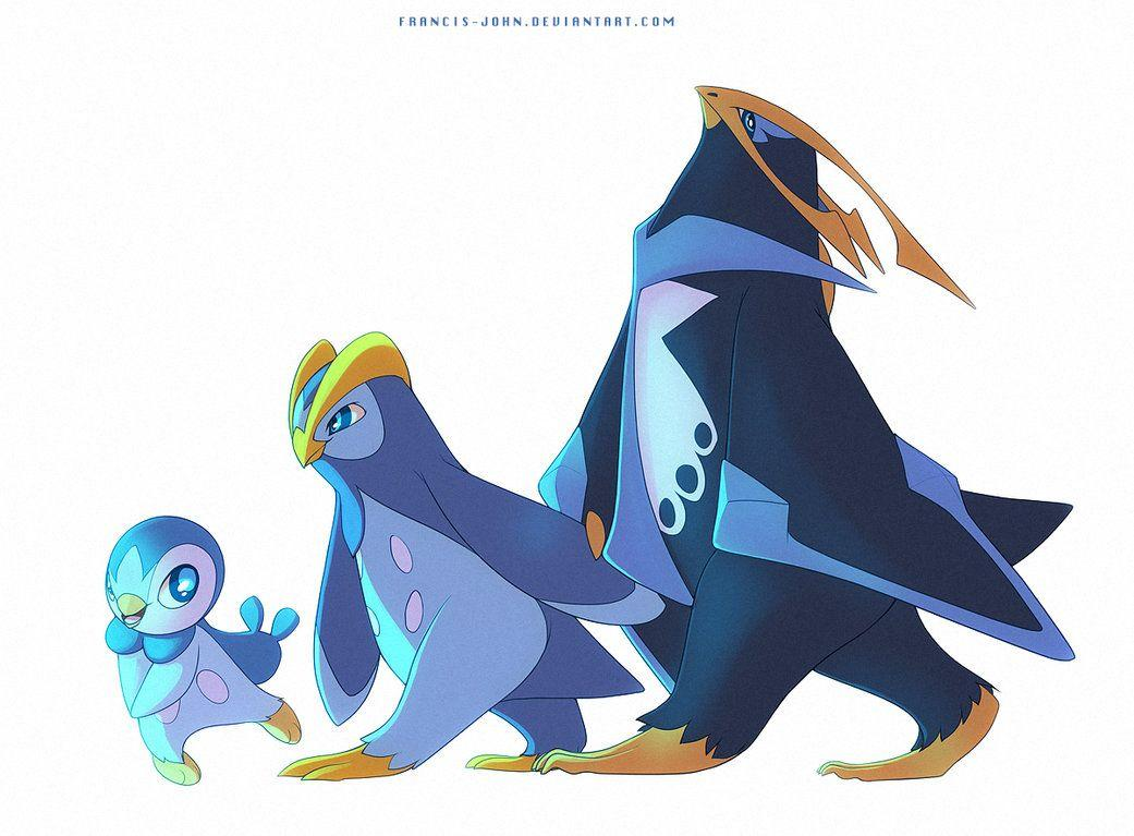 Piplup Prinplup and Empoleon by francis
