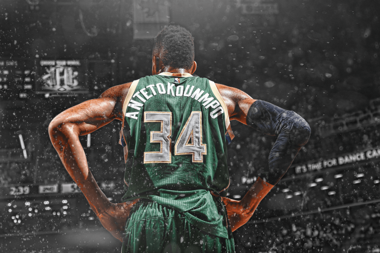 Giannis Is On Fire Wallpaper 1920x1080 Source Antetokounmpo Wallpapers Cave