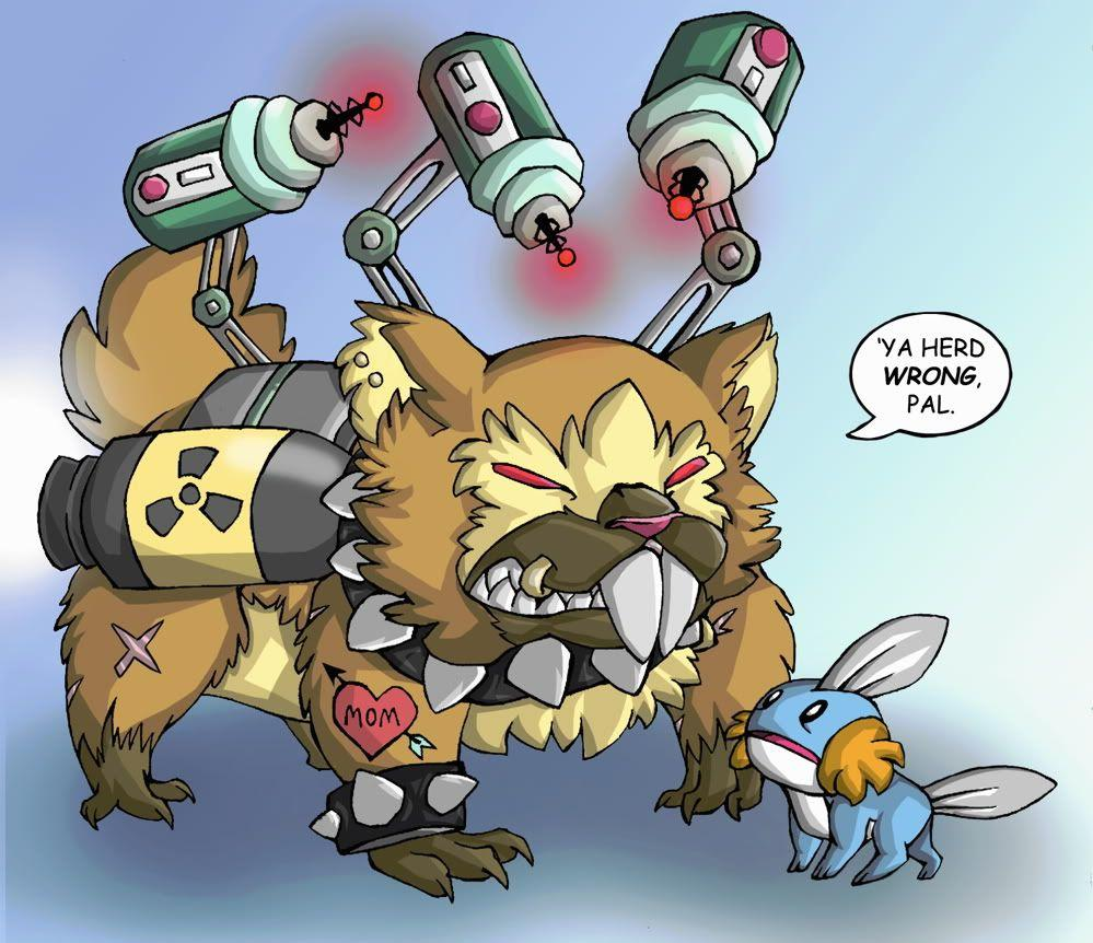 The Mudkip Corporation declares war on the Bidoof Federation ...