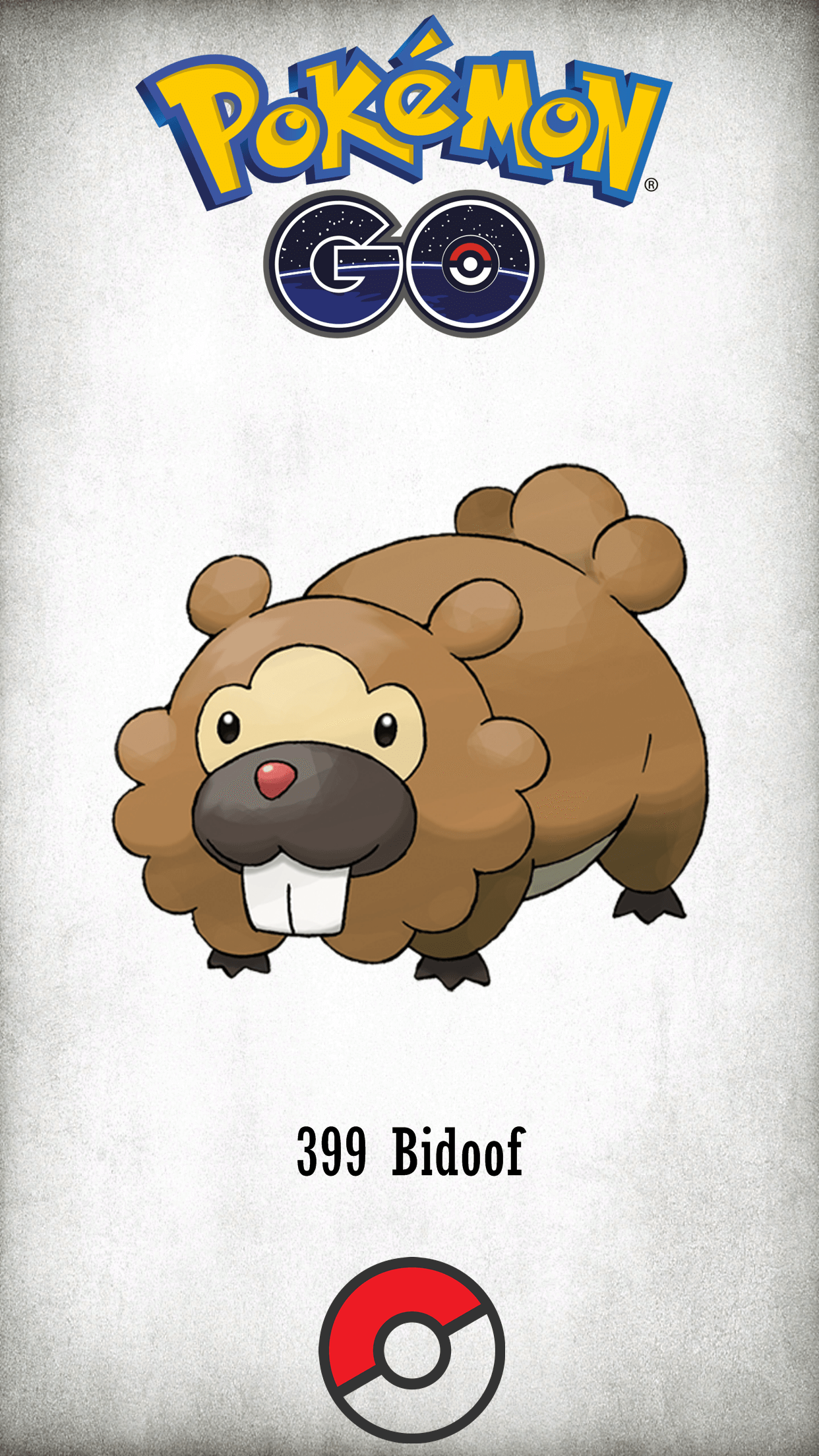 399 Character Bidoof | Wallpaper