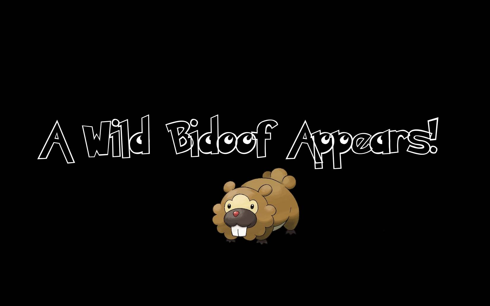 A-wild-bidoof-appears.jpg - Pokemon Wallpaper