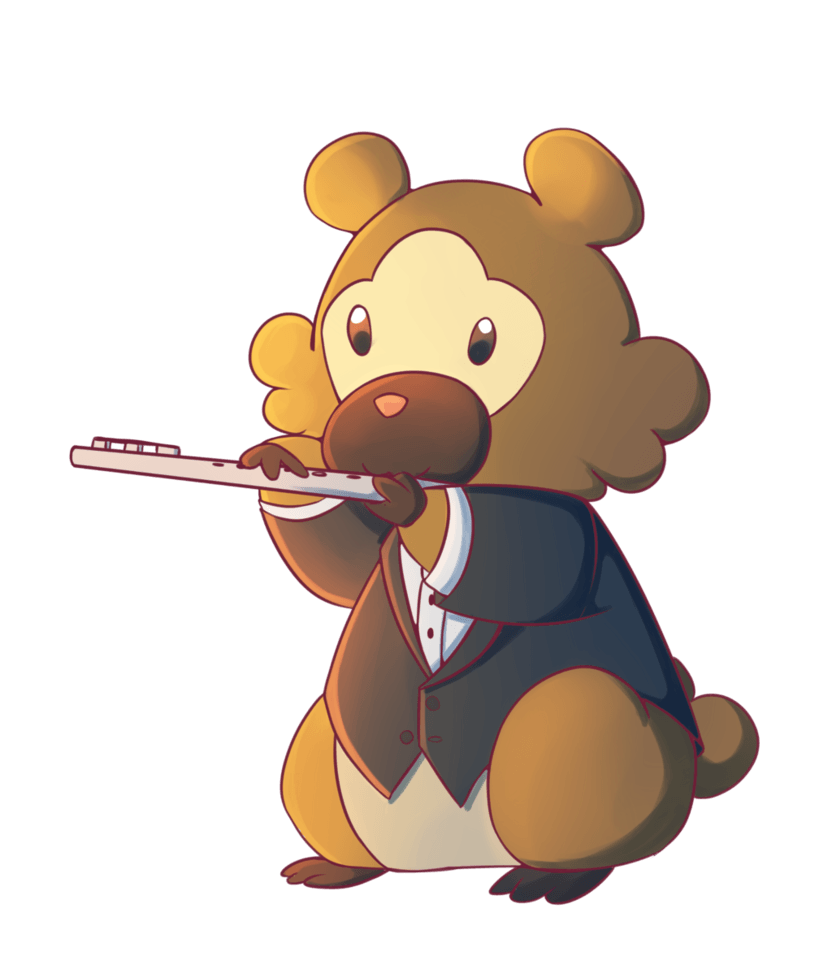 Bidoof In Tuxedo by ThaIssing on DeviantArt