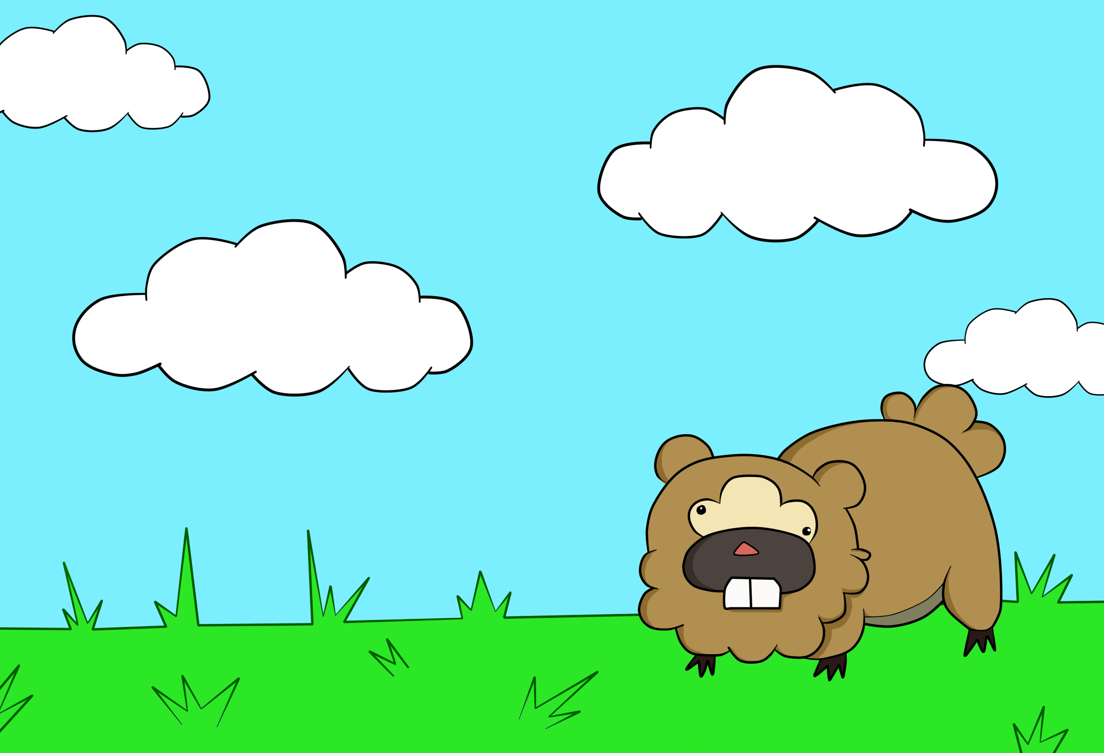 Bidoof Wallpaper by AmebaPico on DeviantArt