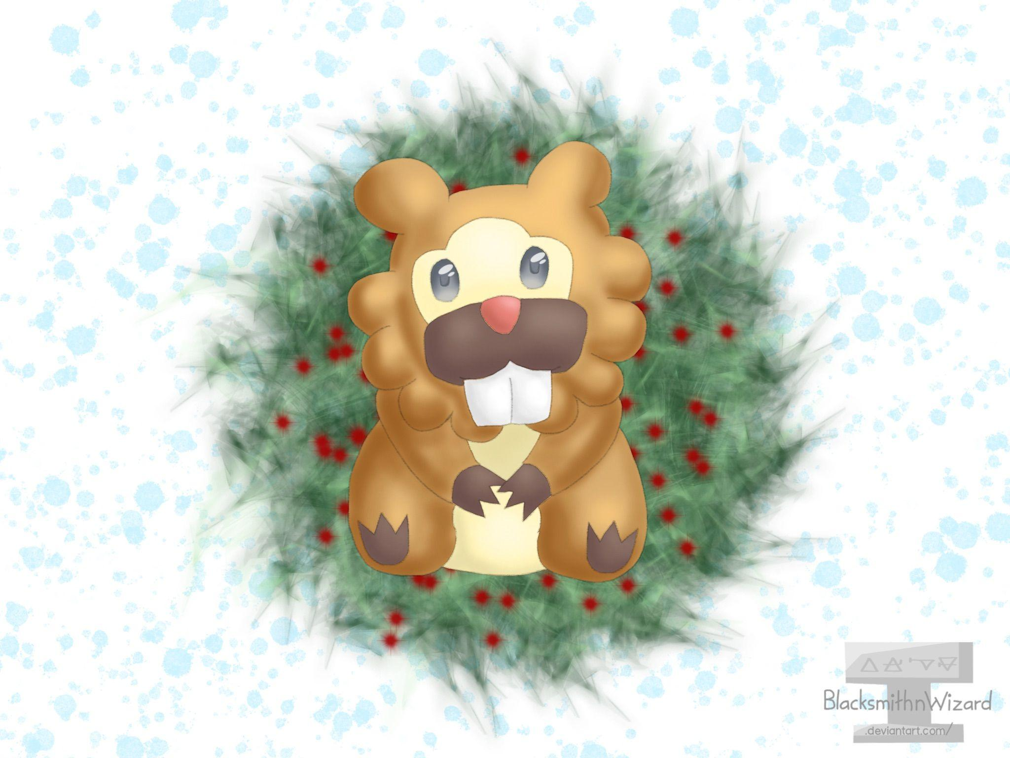 Bidoof Christmas by BlacksmithnWizard on DeviantArt