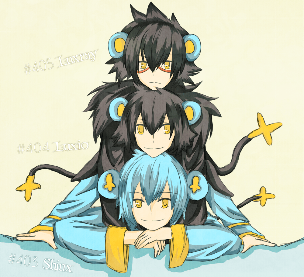 PKMN Gijinka - Shinx Family by brioche-of-destiny on DeviantArt