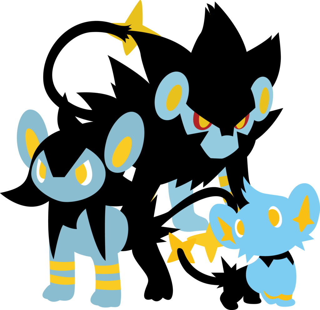 Luxray luxio and shinx (Sparky) by Andie200 on DeviantArt