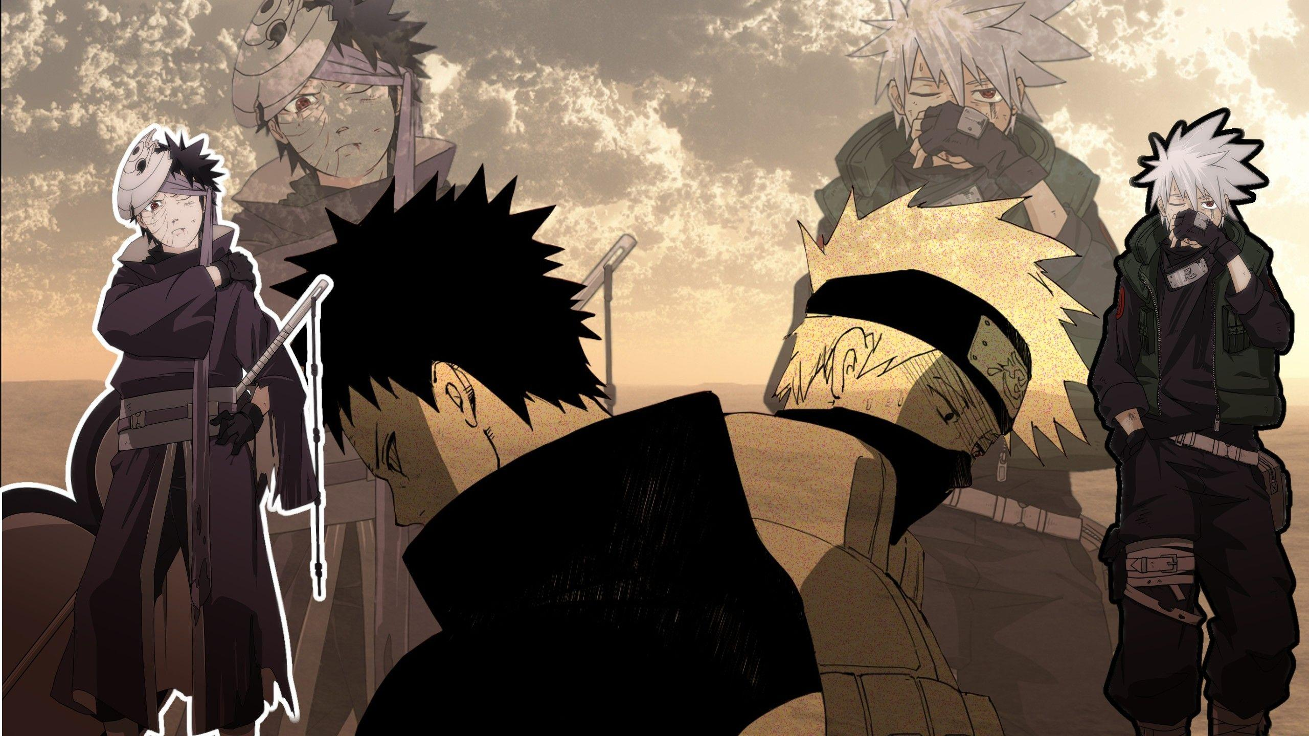 Kakashi And Obito Wallpapers Wallpaper Cave