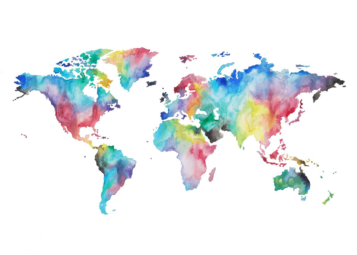 World Watercolor Wallpapers Wallpaper Cave
