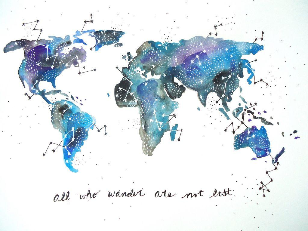 World Watercolor Wallpapers Wallpaper Cave