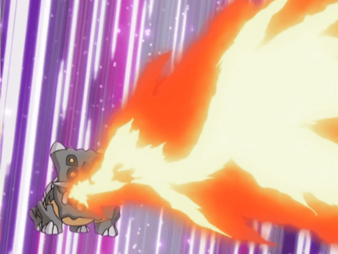 Image - Byron Bastiodon Flamethrower.png | Pokémon Wiki | FANDOM ...