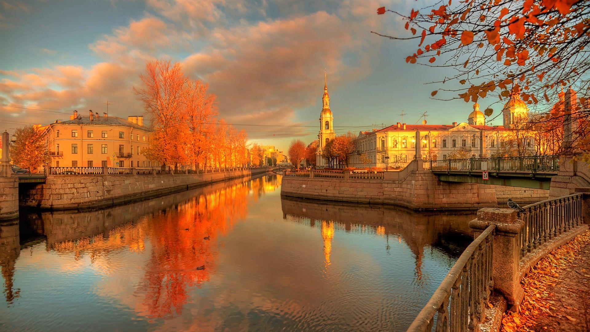 Autumn in St. Petersburg, Russia HD Wallpaper | Background Image ...