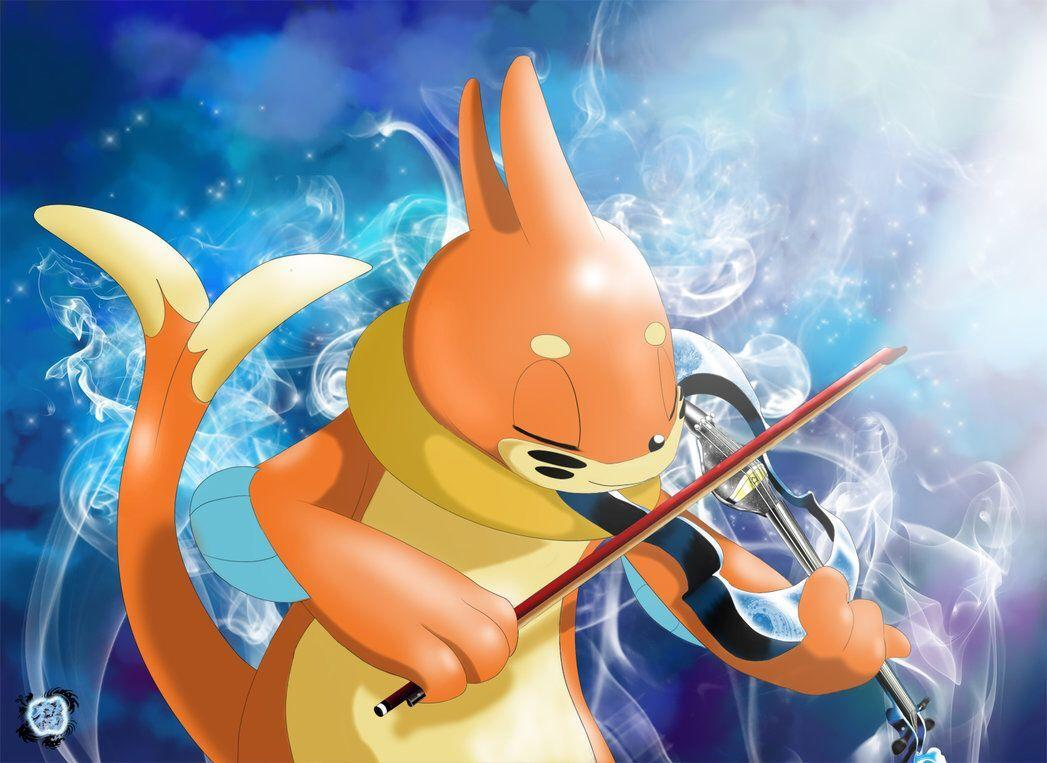 Buizel playing the violin