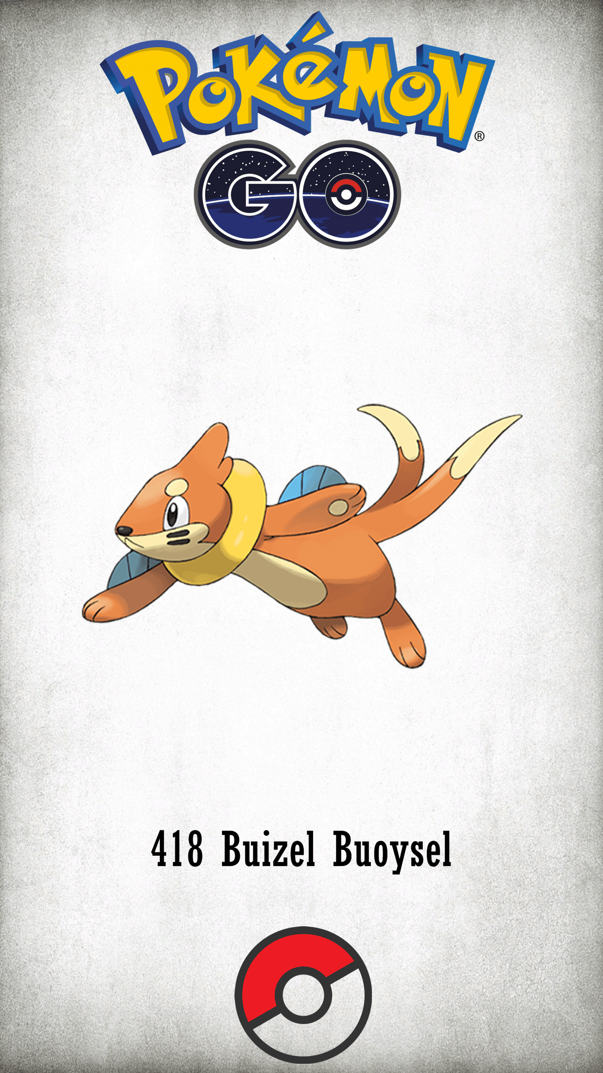 418 Character Buizel Buoysel | Wallpaper