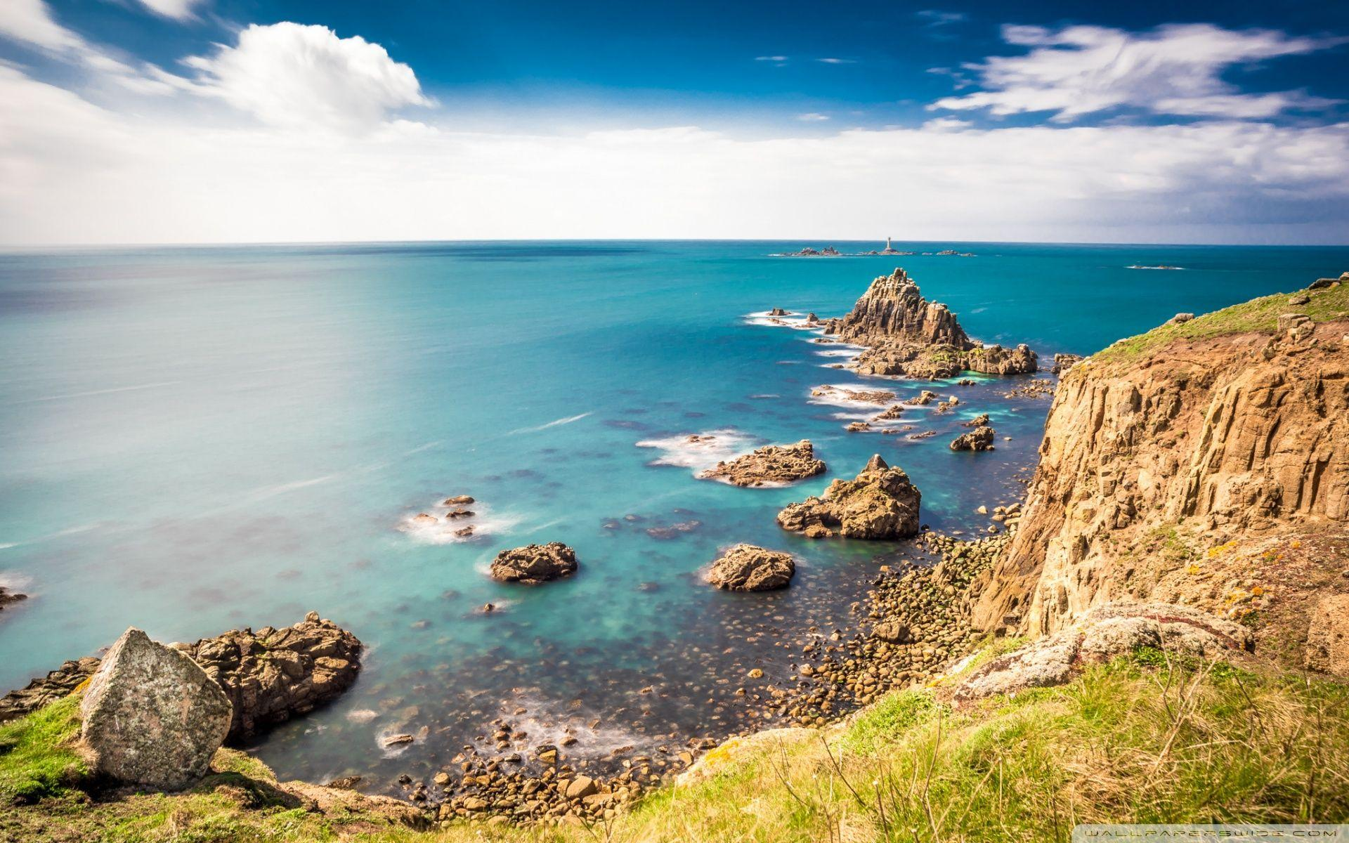 Rocky shorelines at Land's End, Cornwall, United Kingdom ❤ 4K HD