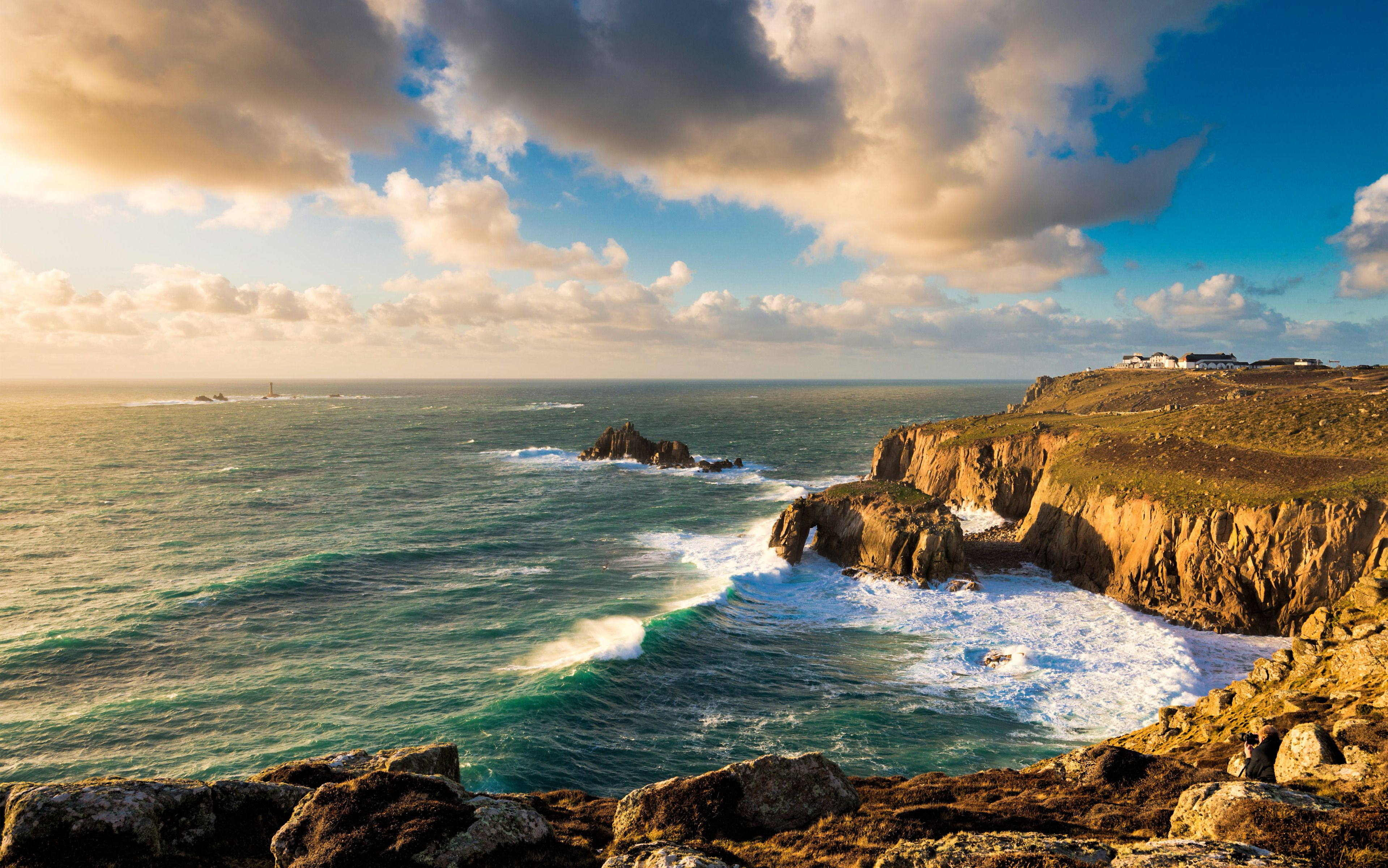 Land's End, Cornwall, England widescreen wallpapers