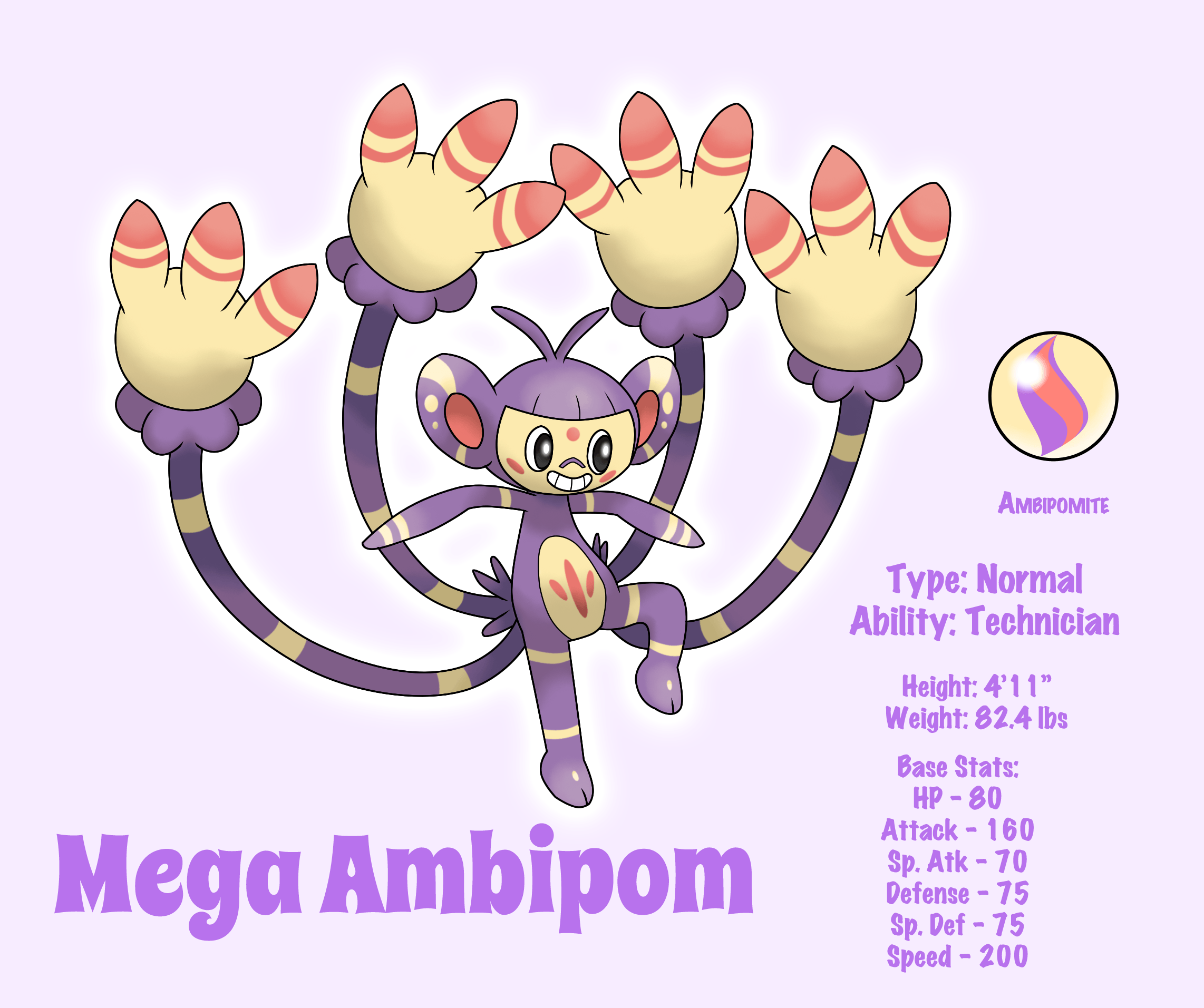 Mega Ambipom by LudiculousPegasus