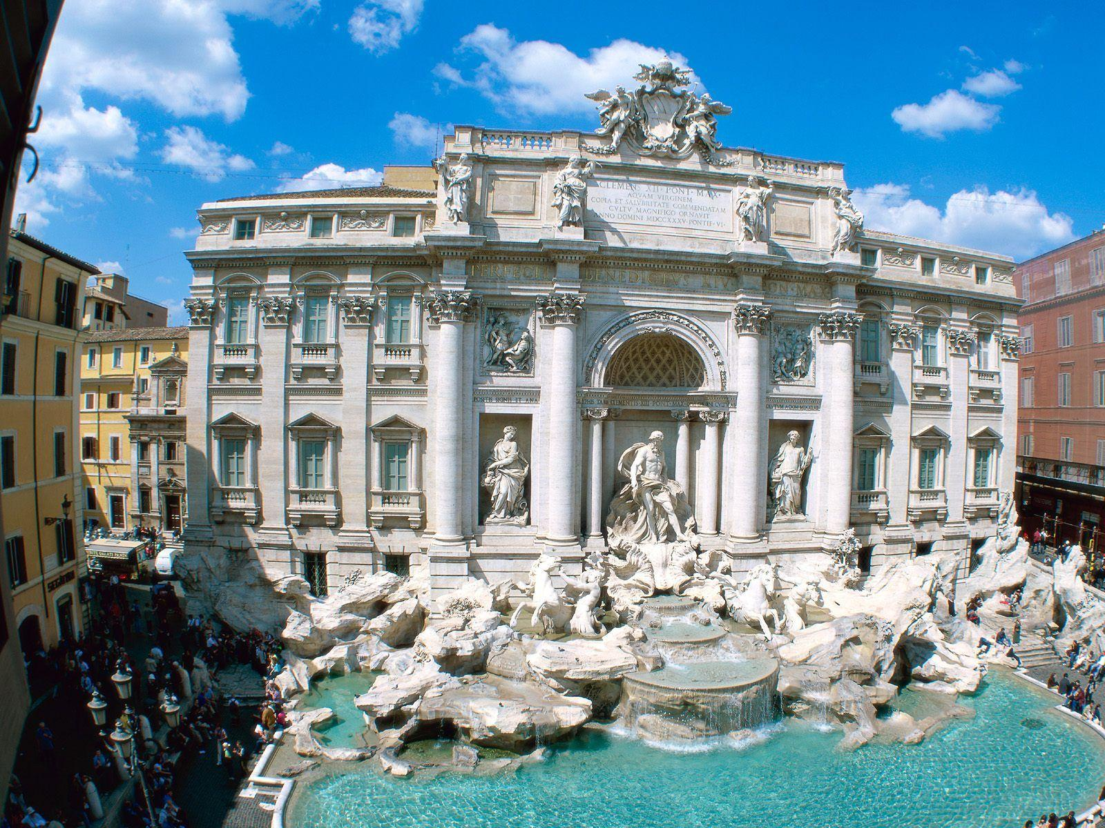 Trevi Fountain Rome Italy Wallpapers