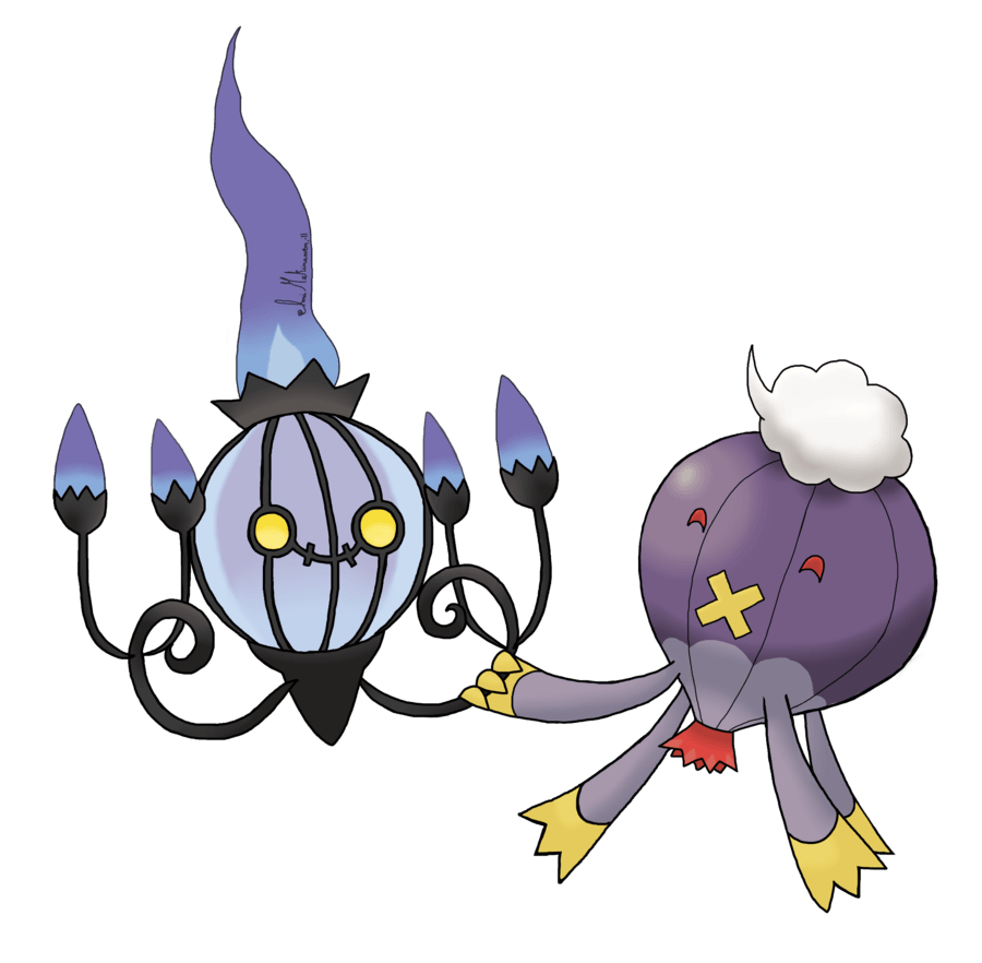 Chandelure and Drifblim by Aissu on DeviantArt