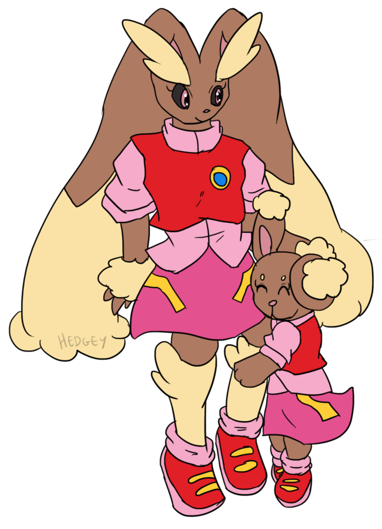 Comm: Lopunny and Buneary by Hedgey on DeviantArt