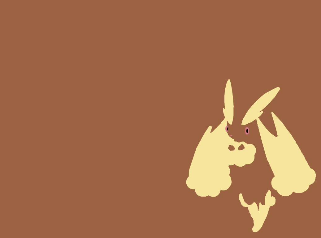 Lopunny Wallpaper 01 - Minimalism by Ymeisnot on DeviantArt