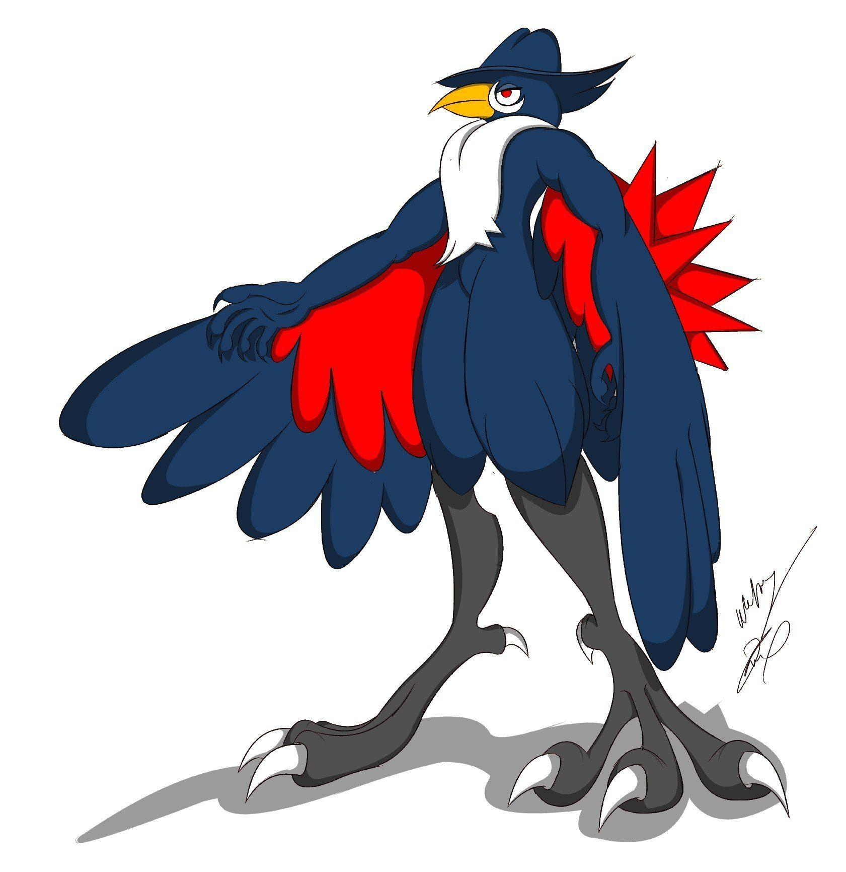 Honchkrow My Style Color by GunZcon on DeviantArt