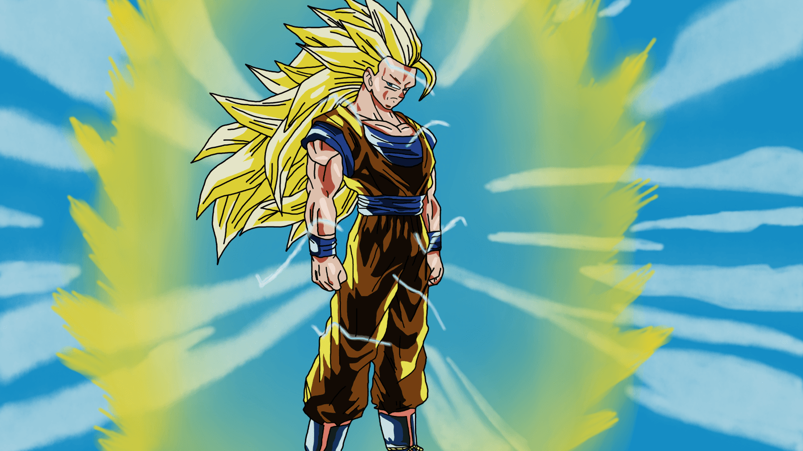 Goku Super Saiyan 3 Blue And Gold Wallpapers