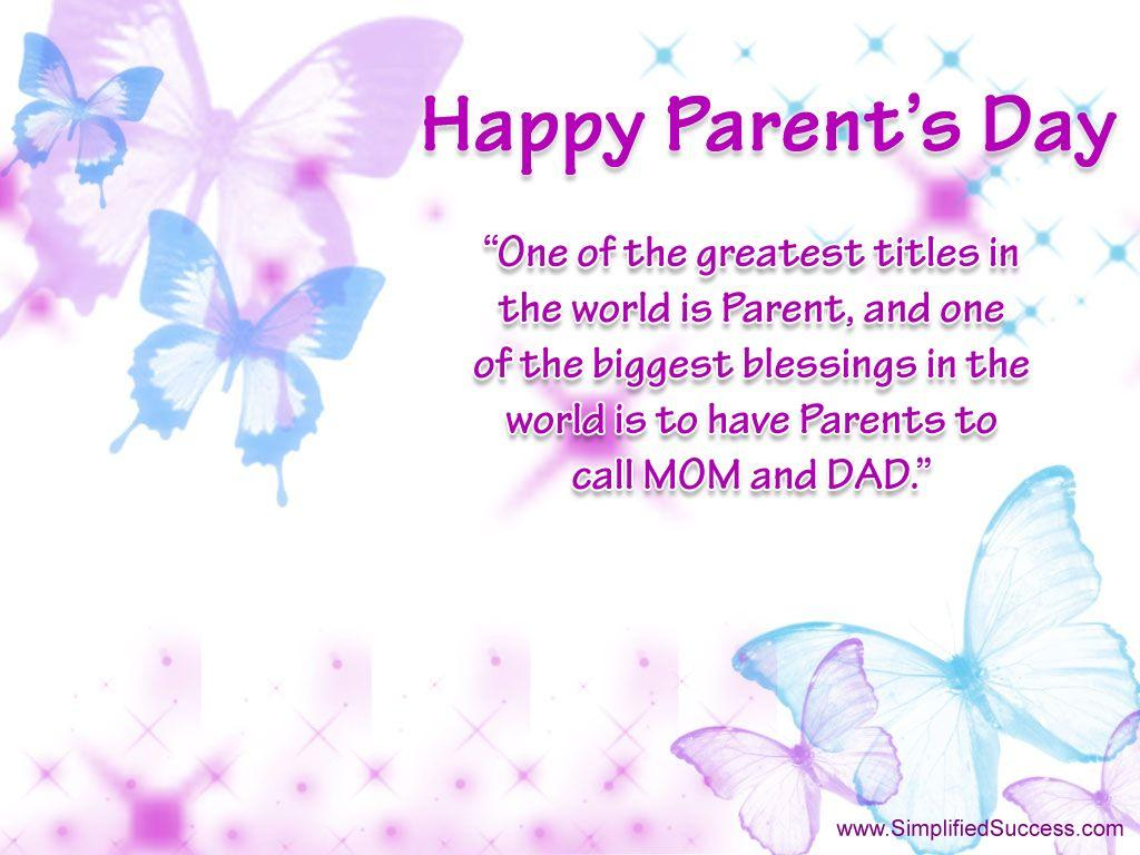 World Parents Day : Let's Celebrate!