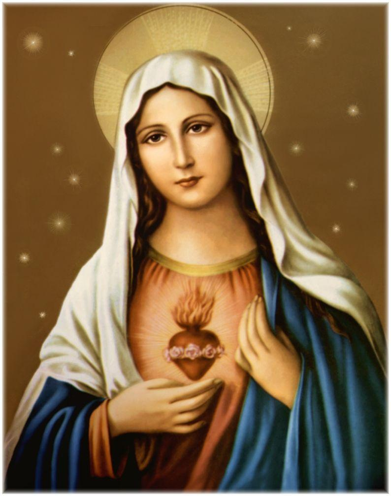 Mother mary heart mobile wallpapers wallpaper cave.