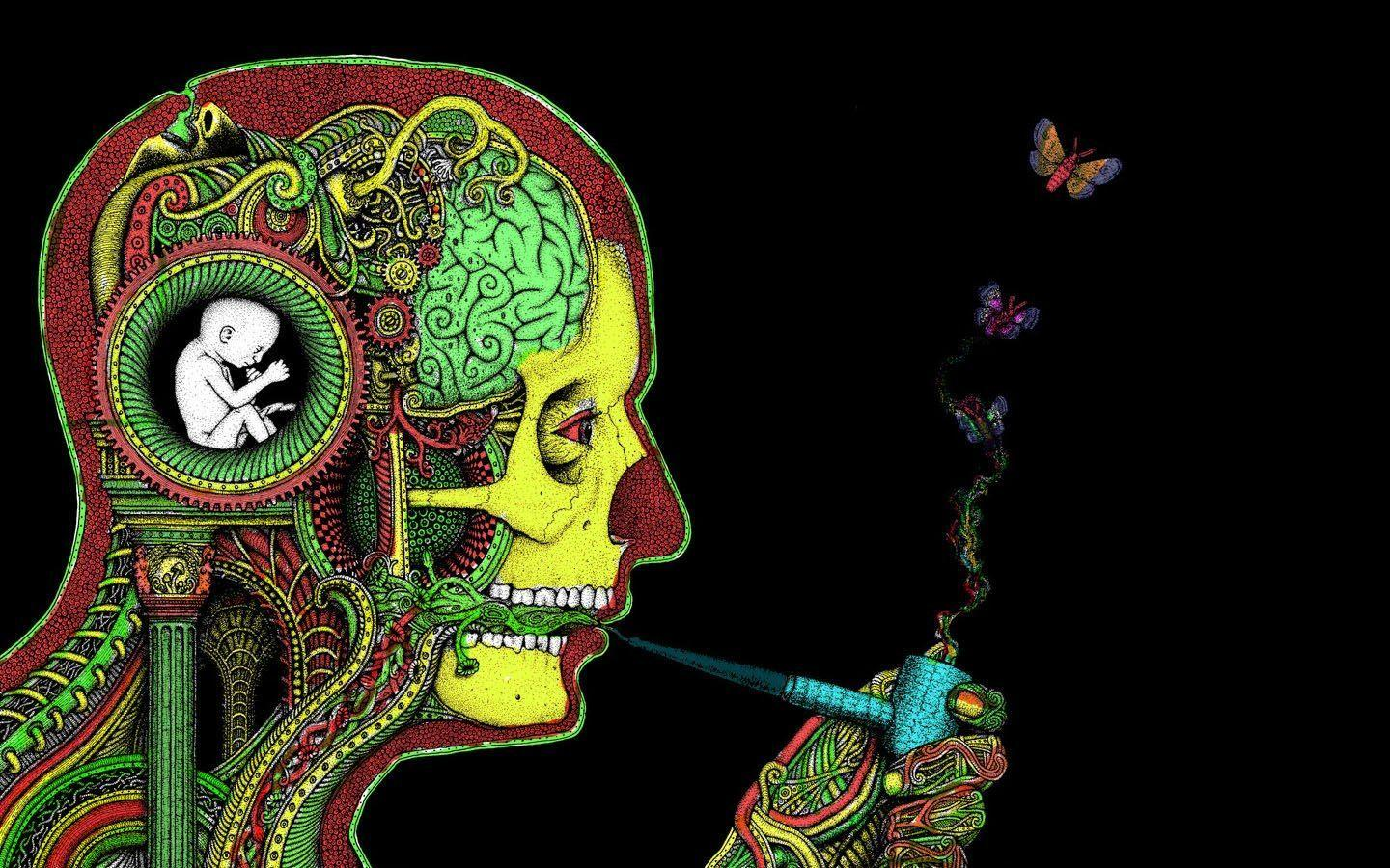 Trippy Smoke Weed Backgrounds - Wallpaper Cave
