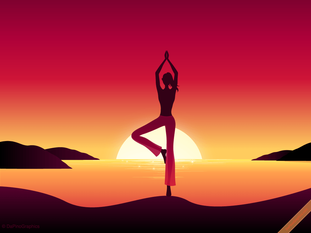 DaPinoGraphics » Yoga Girl by Sunset Wallpapers