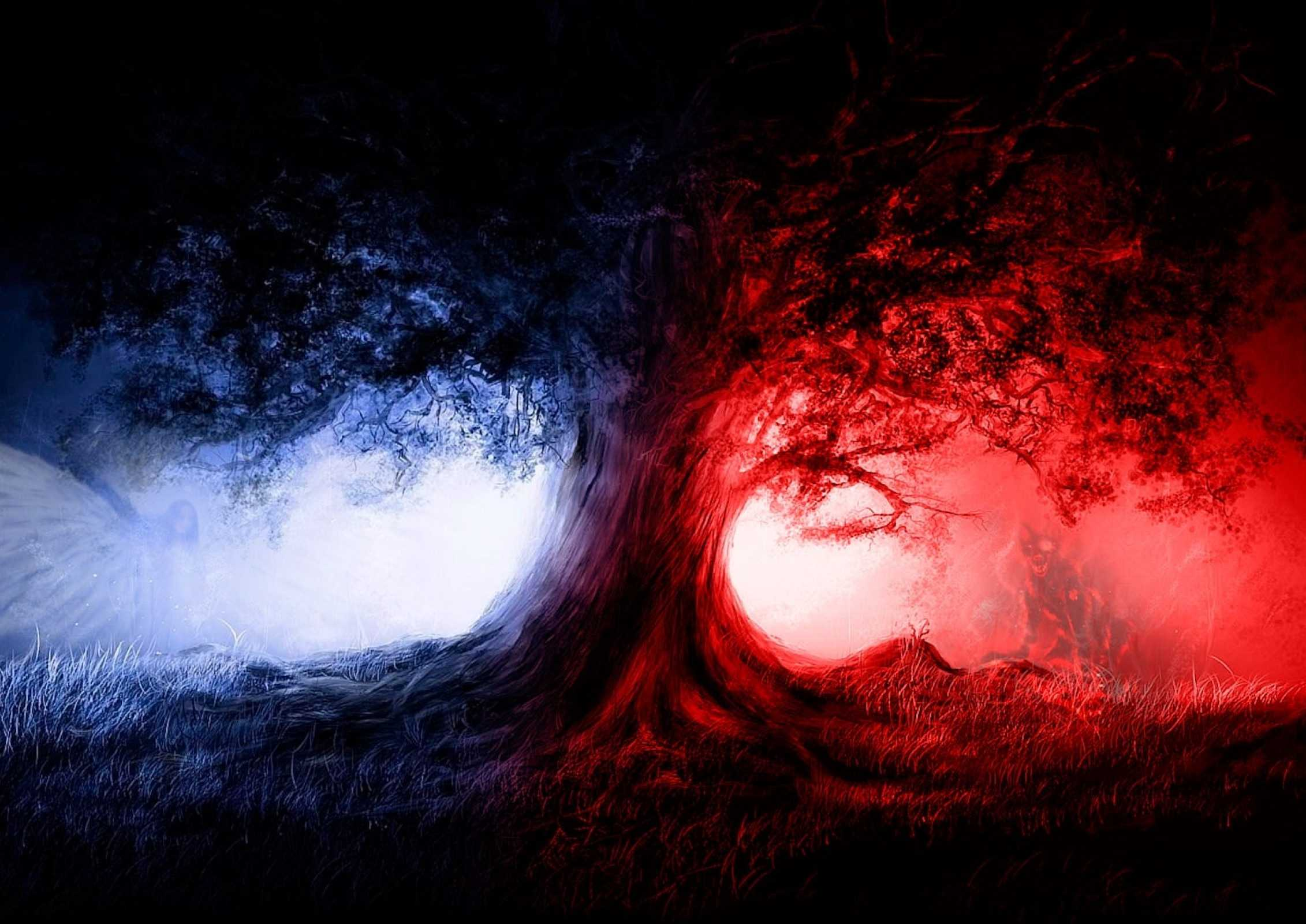 Red Blue Wallpapers Wallpaper Cave