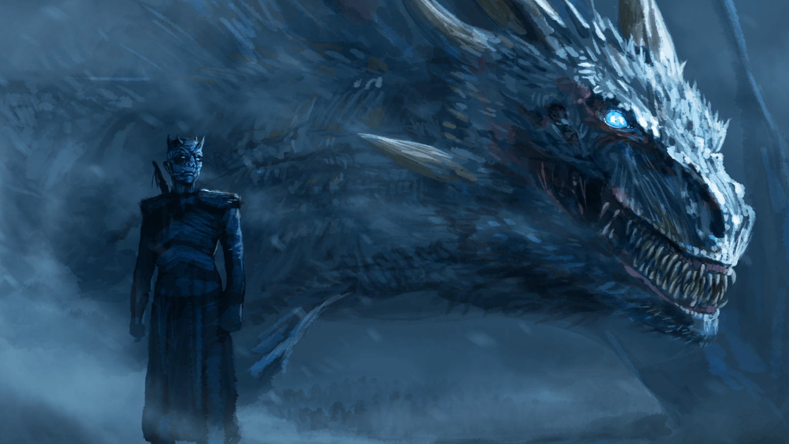 Download 1600x900 Game Of Thrones, Dragon, Artwork, Tv Series