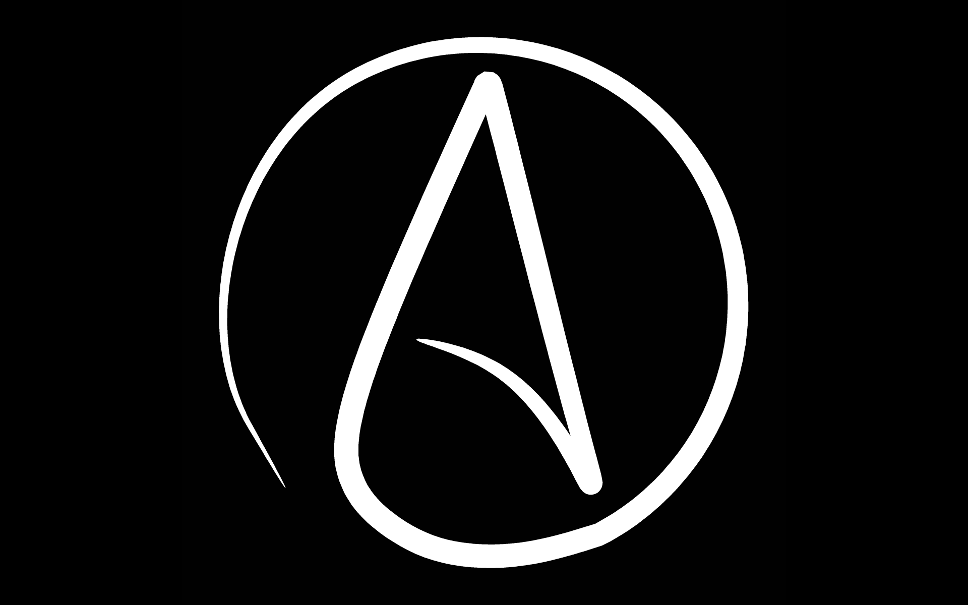 Free atheist symbol wallpapers wallpaper cave - Atheist desktop wallpaper ...